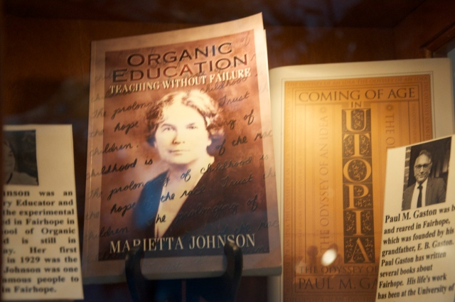 "Marietta Johnson, author and educator, founded the School of Organic Education in 1907.  The school boasted ""no tests, no grades, no shoes"" - my kind of place!"