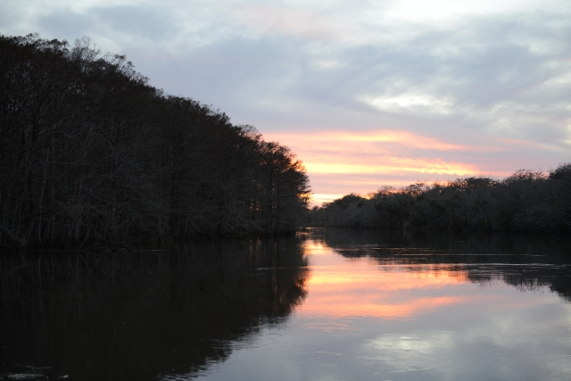 The creek reflect the beauty of the evenings.