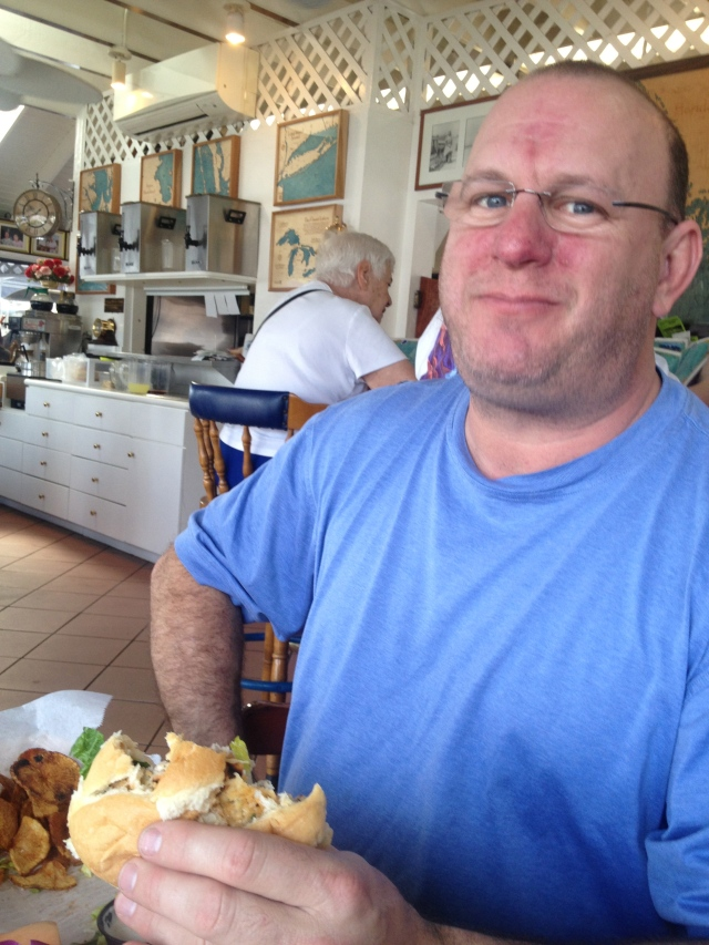 """""""Oh yeah!  I'm all about a grouper sandwich feast too!"""""""