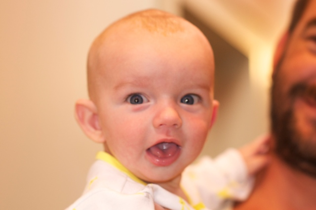 Jari, at 4 months,  on his first Arkansas tour.