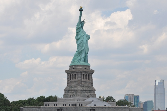 Rounding the Statue of Liberty