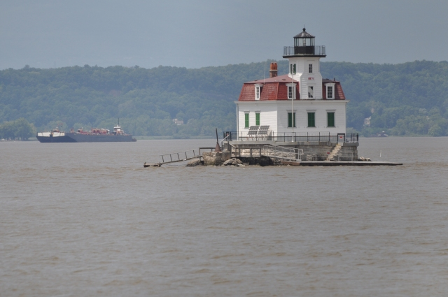 The Esopus Lighthouse, built in 1872, marks the shoals of Esopus Meadows.
