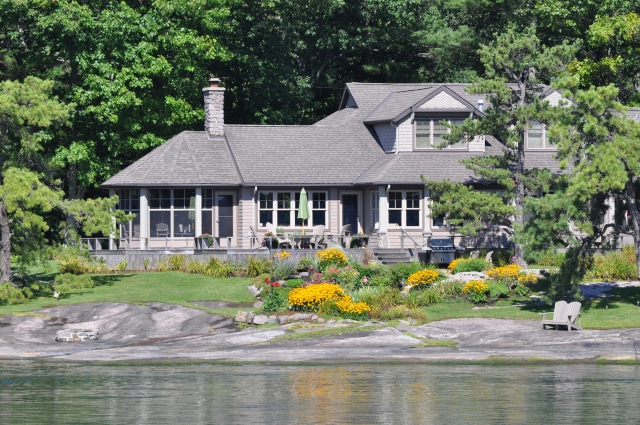 Many of the homes on the islands are built and landscaped in keeping with the terrain.