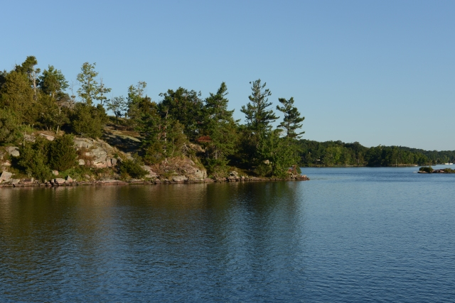 A view from our anchorage in Bathtub Bay, Picton Island, Thousand Islands, NY.