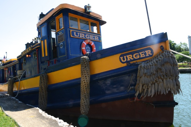 Urger; isn't that a marvelous name for a tugboat?  She has gently and determinedly urged things about in her waters for over 100 years; some of my favorite people are urgers.