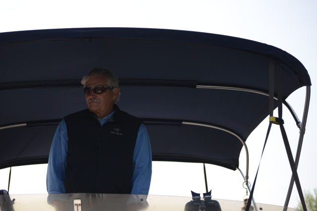 The captain enjoying the sunshine!