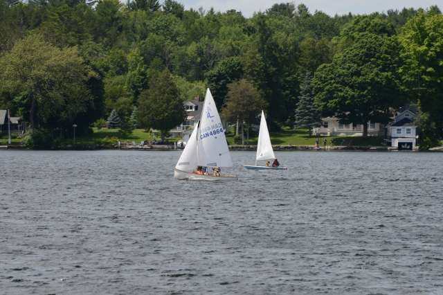 Sailboats are always a welcome sight on the many lakes.