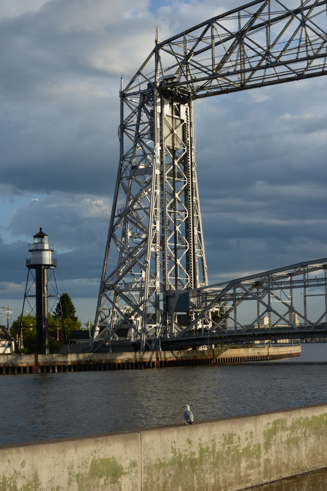 The famous lift bridge to Duluth Harbor.