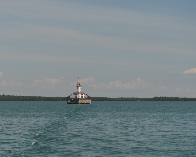 De Tour Light welcomes mariners to Lake Huron.